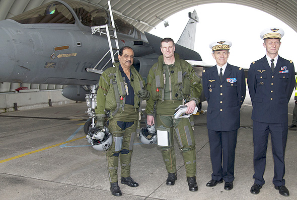 Air Chief in France, one-hour sortie in Rafale